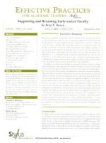Effective Practices for Academic Leaders Volume 1 Issue 9: Supporting and Retaining Early-Career Faculty