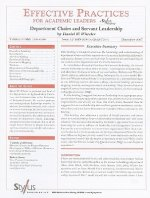 Department Chairs and Servant Leadership: Issue 12