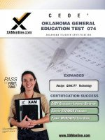 Ceoe Oget Oklahoma General Education Test 074 Teacher Certification Test Prep Study Guide