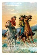 Cowboy and Cowgirl Riding the Range Birthday Card [With 6 Envelopes]