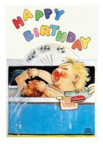 Baby Singing in the Bath Birthday Card [With 6 Envelopes]