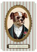 Dapper Dog Birthday Card
