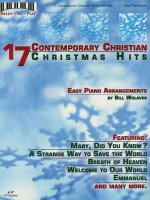 17 Contemporary Christian Christmas Hits: Easy Piano Arrangements