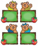 Chalkboard Bears Cut-Outs
