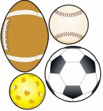 Sports Balls Cut-Outs