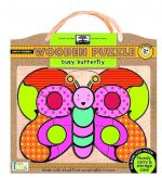 Green Start Busy Butterfly Wooden Puzzle