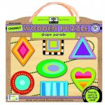 Green Start Shape Parade Chunky Wooden Puzzle: Earth Friendly Puzzles with Handy Carry & Storage Case
