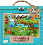 Green Start Dinosaurs Giant Floor Puzzle: Earth Friendly Puzzles with Handy Carry & Storage Case