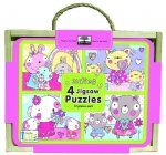 Green Start Jigsaw Puzzle Box Sets: Cuties (4 - 12 Piece Puzzles)
