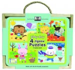 Green Start Jigsaw Puzzle Box Sets: Play Day (4 - 12 Piece Puzzles)