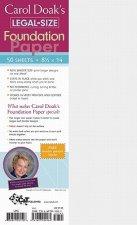 Carol Doak's Legal Size Foundation Paper