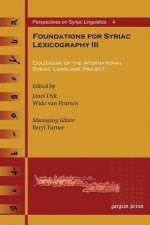 Foundations for Syriac Lexicography III