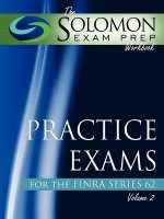 The Solomon Exam Prep Workbook Practice Exams for the Finra Series 62, Volume 2