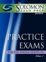 The Solomon Exam Prep Workbook Practice Exams for the Nasaa Series 66, Volume 2