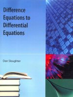 Difference Equations to Differential Equations