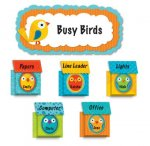Boho Birds & Birdhouses Bulletin Board Set