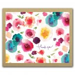 Sprout + Bloom Watercolor Floral Print Greenthanks, Thank You Notecard Box Set