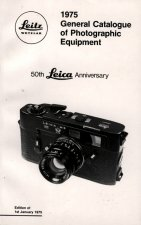 1975 General Catalogue of Photographic Equipment: 50th Leica Anniversary