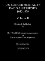 U.S. Cancer Mortality Rates and Trends 1950-1979 Volume II