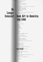 No Longer Innocent: Book Art in America: 1960-1980