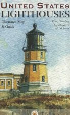 United States Lighthouses Illustrated Map & Guide: Every Standing Lighthouse in All 50 States