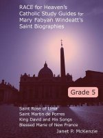 Race for Heaven's Catholic Study Guides for Mary Fabyan Windeatt's Saint Biographies Grade 5