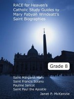 Race for Heaven's Catholic Study Guides for Mary Fabyan Windeatt's Saint Biographies Grade 8