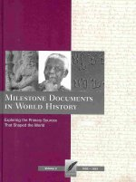 Milestone Documents in World History, Volume 2