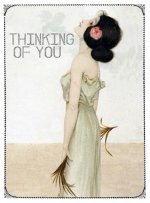 Thinking of You - Greeting Cards, Pkg of 6: Greeting: Thinking of You (Blank Inside)