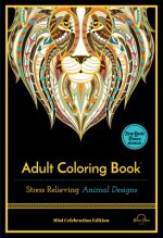 Stress Relieving Animal Designs: Adult Coloring Book, Mini Edition