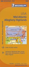 Michelin USA: Mid-Atlantic, Allegheny Highlands Map 582