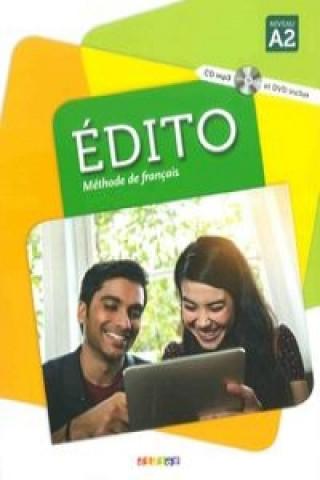 Édito Niveau A2 UČ + CD Mp3 + DVD