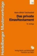 Das private Einzeltestament