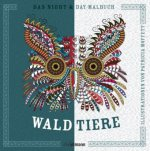 Night & Day-Malbuch: Tiere des Waldes