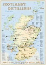 Whisky Distilleries Scotland - Poster 42x60cm - Standard Edition