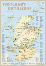 Scotland's Distilleries Poster 100 x 70cm (incl. a set of poster holders)