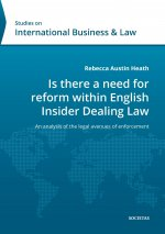 Is there a need for reform within English Insider Dealing Laws