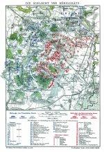 Historische Landkarte: Schlacht bei Königgrätz am 3. Juli 1866 (A2 gefaltet auf A4)