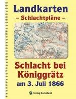 LANDKARTEN - Schlachtpläne - Schlacht bei Königgrätz am 3. Juli 1866