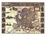 Blaeu's Map of Europe von 1620 (Digitaldruck)