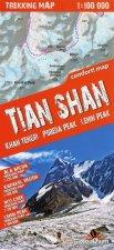 terraQuest Trekking Map Tien Szan