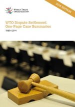 Wto Dispute Settlement: One-Page Case Summaries 1995-2014