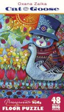 Oxana Zaika: Cat with Goose Floor Puzzle