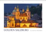 Golden Salzburg - photographed by Andreas Riedmiller (UK-Version) (Wall Calendar 2017 DIN A3 Landscape)