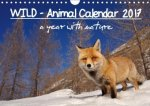 WILD - Animal Calendar 2017 / UK Version (Wall Calendar 2017 DIN A4 Landscape)
