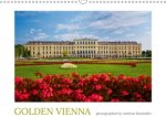 Golden Vienna photographed by Andreas Riedmiller (UK-Version) (Wall Calendar 2017 DIN A3 Landscape)