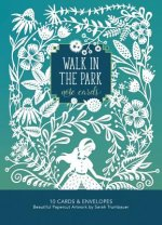 Walk in the Park Note Cards: Beautiful Papercut Artwork by Sarah Trumbauer - 10 Cards and Envelopes