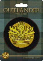 Outlander Crown and Thistle Embroidered Patch