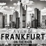 A View Of Frankfurt On The Main (Wall Calendar 2017 300 × 300 mm Square)