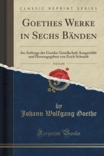 Goethes Werke in Sechs Bänden, Vol. 6 of 6